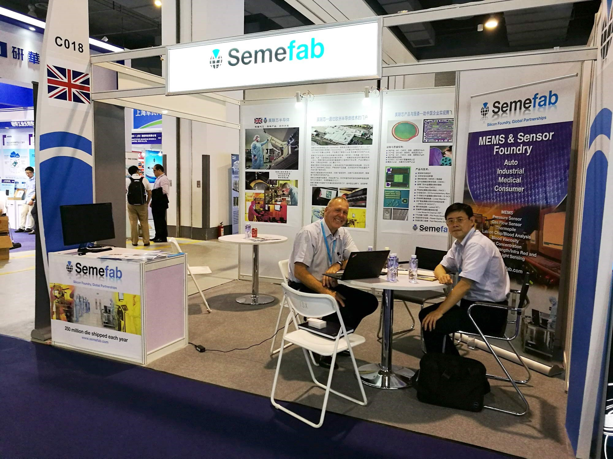 Semefab attended the Shanghai Sensor Expo 2016